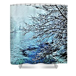 West River Snow Shower Curtain