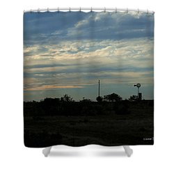 Shower Curtain featuring the photograph West Texas Sunset by Travis Burgess