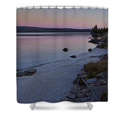West Thumb Sunset Shower Curtain