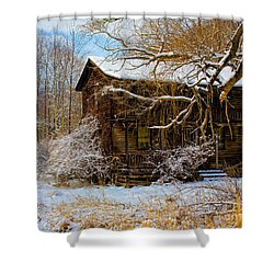 West Virginia Winter Shower Curtain