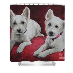 Westies Shower Curtain