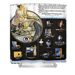 Westinghouse Ad, 1925 Shower Curtain by Granger