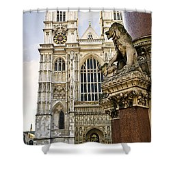 Westminster Abbey Shower Curtain by Elena Elisseeva