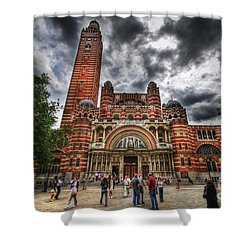 Westminster Cathedral Shower Curtain by Yhun Suarez