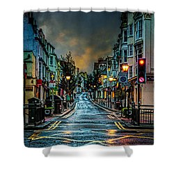 Wet Morning In Kemp Town Shower Curtain by Chris Lord