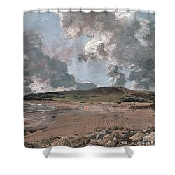 Weymouth Bay With Jordan Hill Shower Curtain by John Constable