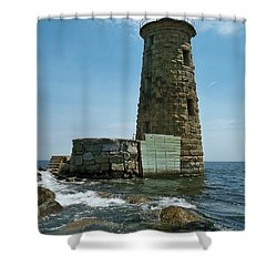 Whaleback Light Shower Curtain by Rick Frost