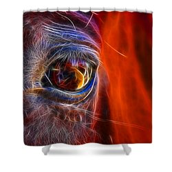 What Are You Looking At Now? Shower Curtain by Mariola Bitner