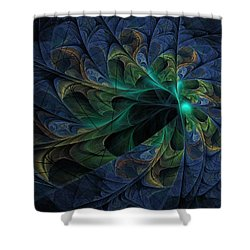 Shower Curtain featuring the digital art What Is Given Here by NirvanaBlues