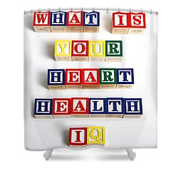 What Is Your Heart Health Iq Shower Curtain by Photo Researchers, Inc.