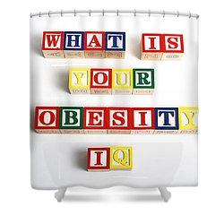 What Is Your Obesity Iq Shower Curtain by Photo Researchers