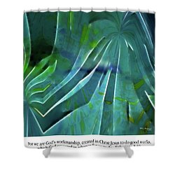 What We Are. Christian Poster Art Shower Curtain by Mark Lawrence