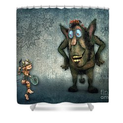 What's Up? Shower Curtain by Jutta Maria Pusl