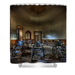 Wheelchairs Are Us Shower Curtain by Nathan Wright