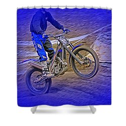 Wheeling Shower Curtain by Karol Livote