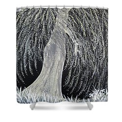 When Willows Weep Shower Curtain