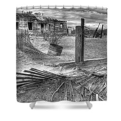 Where Does The Story End Monochrome Shower Curtain by Bob Christopher
