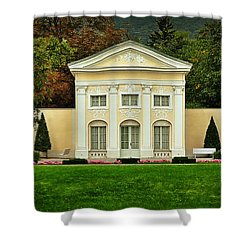 Where Lovers Meet Shower Curtain by Mary Machare