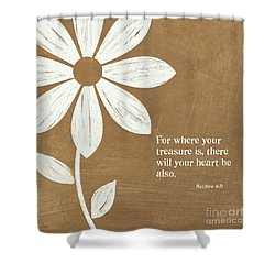Where Your Heart Is Shower Curtain by Linda Woods