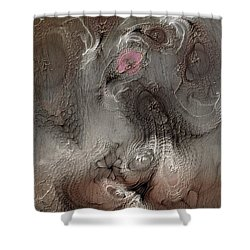 Shower Curtain featuring the digital art Whims Within by Casey Kotas