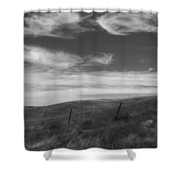 Shower Curtain featuring the photograph Whipping Up The Hillside by Kathleen Grace