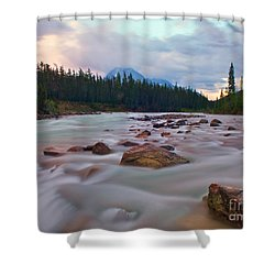 Whirlpool River Shower Curtain by James Steinberg and Photo Researchers