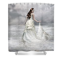 Whispered Waves Shower Curtain by Mary Hood