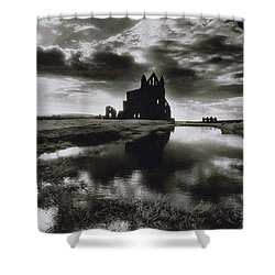 Whitby Abbey Shower Curtain by Simon Marsden