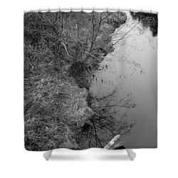 White Branch Riverside  Shower Curtain