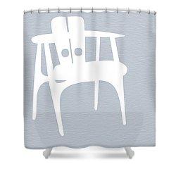 White Chair Shower Curtain by Naxart Studio