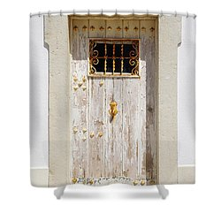 White Door Shower Curtain by Carlos Caetano