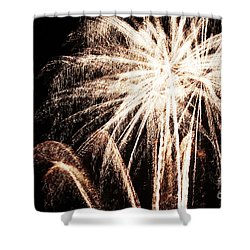 White Explosion Shower Curtain