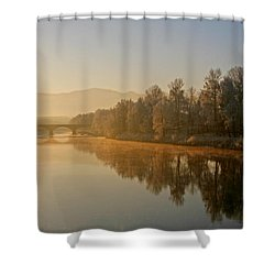 White Frost Landscape 2 Shower Curtain by Ralf Kaiser
