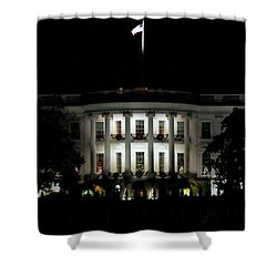 Shower Curtain featuring the photograph White House In December by Suzanne Stout