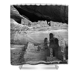 White House Ruin Canyon De Chelly Monochrome Shower Curtain by Bob Christopher