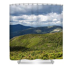 White Mountains New Hampshire Panorama Shower Curtain by Stephanie McDowell