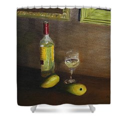 White Wine And Mangoes Shower Curtain
