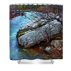 Shower Curtain featuring the photograph White's Creek by Paul Mashburn