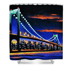 Whitestone Bridge 2 Sold Shower Curtain
