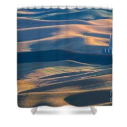 Whitman County Grain Silo Shower Curtain by Sandra Bronstein