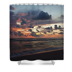 Wiggins Beach Summer Sunset. Shower Curtain