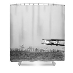 Wilbur Wright Piloting Wright Flyer II Shower Curtain by Science Source