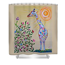 Wild And Crazy Giraffe Shower Curtain