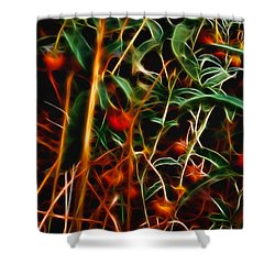 Wild Berries Shower Curtain by Ellen Heaverlo