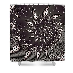 Shower Curtain featuring the digital art Wild Child by Michelle H