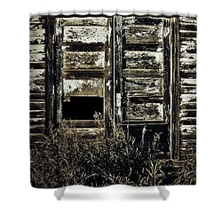 Wild Doors Shower Curtain by Empty Wall