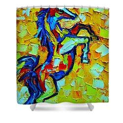 Wild Horse Shower Curtain by Ana Maria Edulescu