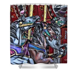 Wild Horses Shower Curtain by Heather Applegate