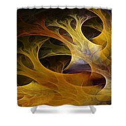 Wild Trees Shower Curtain by Lourry Legarde
