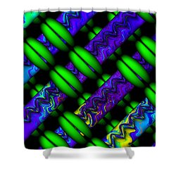 Shower Curtain featuring the digital art Wild Weave by Manny Lorenzo